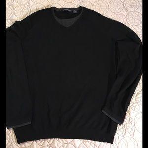 Men's silk and cashmere lightweight sweater